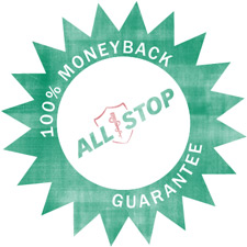 all stop guarantee logo
