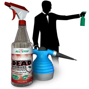 Destroy Dead Bed Bugs With Our Contact Killing Spray and Professional Steamer